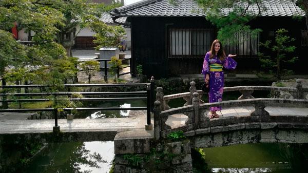 Yukata en Kioto - Con Algas en la Maleta