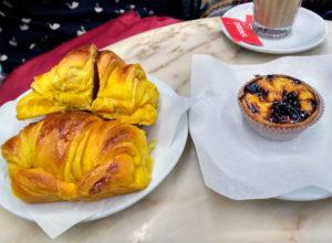 Comer en Oporto Cruasan Pastel de Nata