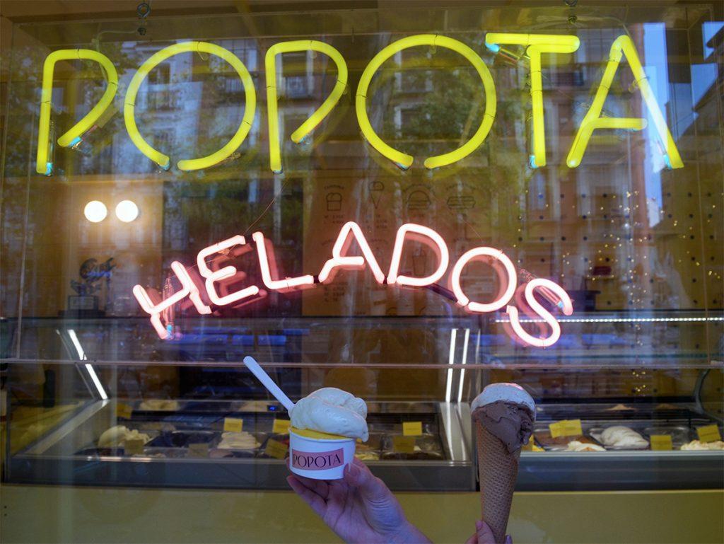 Heladería Popota Qué hacer en Madrid