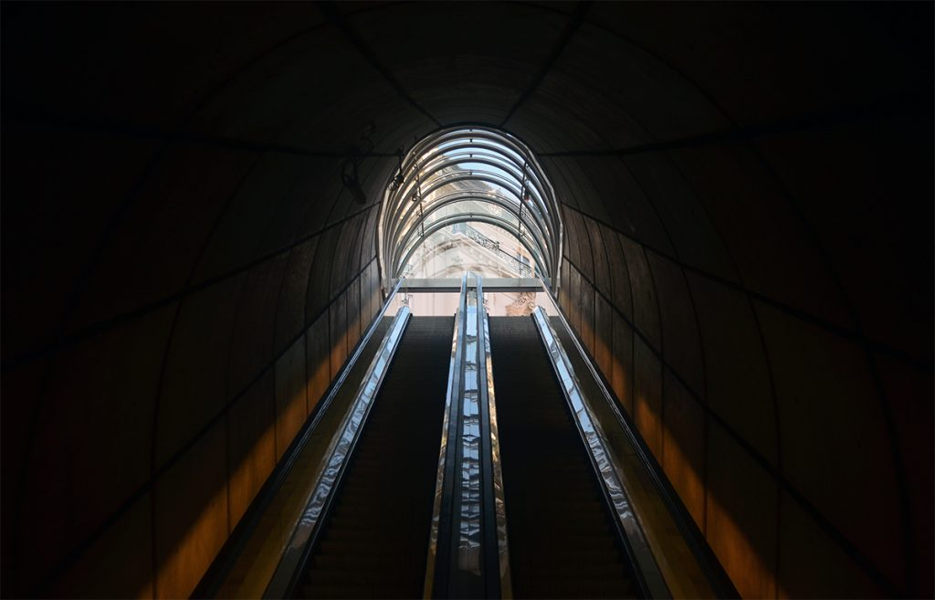 Salida de metro Bilbao