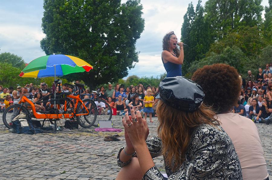 Karaoke de Mauerpark en Berlin
